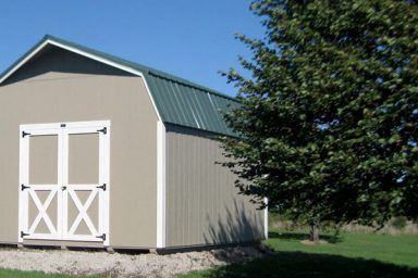 Outdoor Shed on a pad