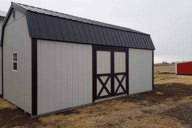 Outdoor Shed with side door