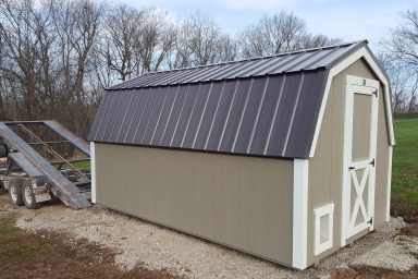 Outdoor Shed with a metal roof