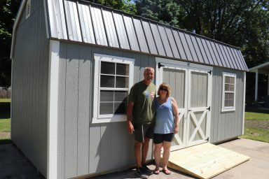 Outdoor Shed with a ramp