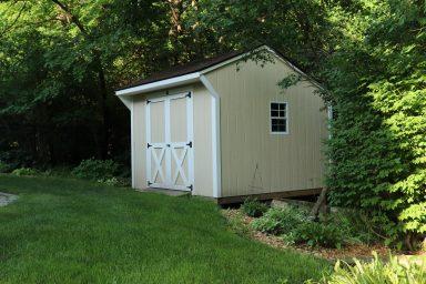 Backyard shed in Iowa
