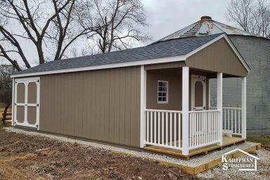 large gable utility shed in ia