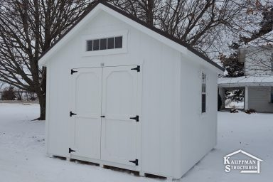 utility shed with transom window