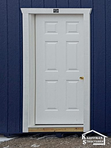 solid 36 insulated entry door on custom built shed 150x150 optio