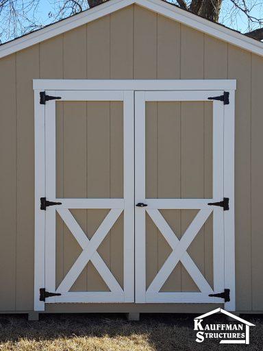 reinforced double door