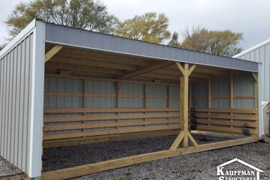 cattle shelter loafing shed run in