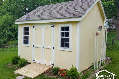 storage sheds with a ramp