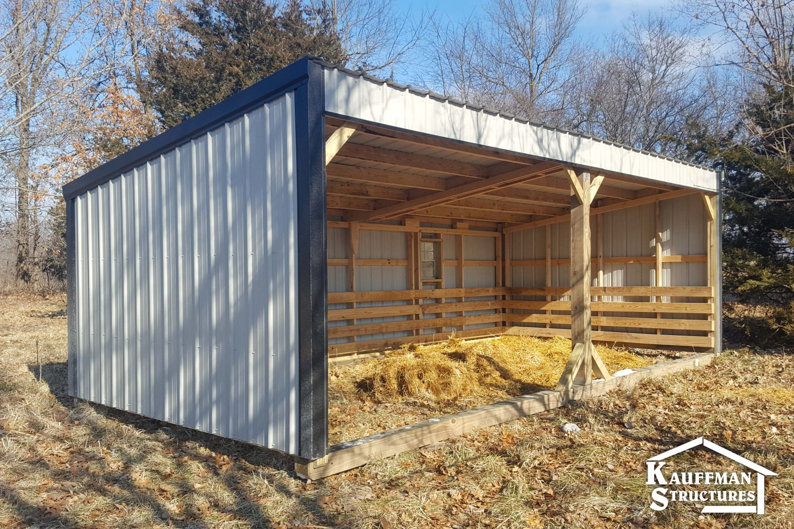where should a loafing shed be placed