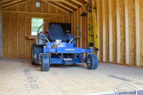 lawn equipment storage shed in pella