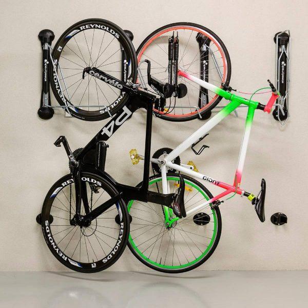 classic bike rack for storing bikes in a storage bike shed