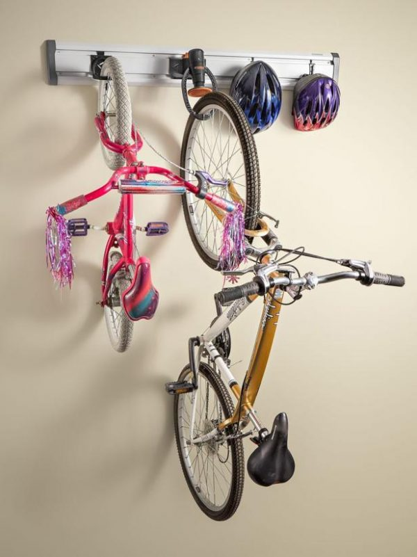 strap hanging bike shed wall mount