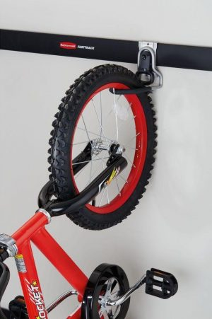 verticle bike hook for bicycle shed organization