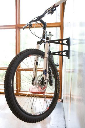 wall bike rack great solution for a shed