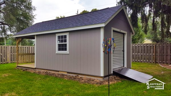 garage shed with porch