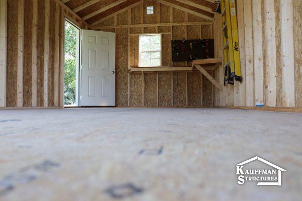 reinforced floor in workshop shed