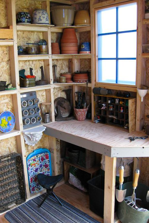 an organized small shed