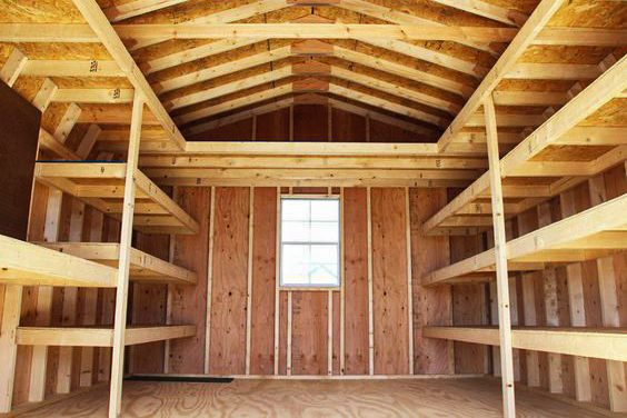 install shelves in your small shed