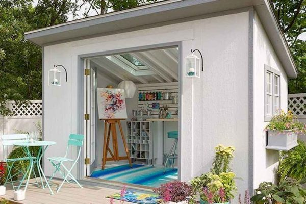 art studio small storage shed