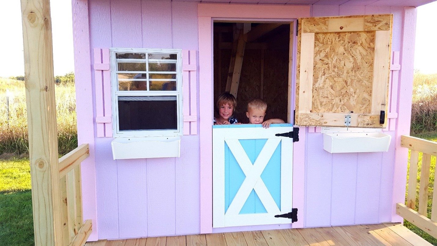 kids playhouses come with dutch doors
