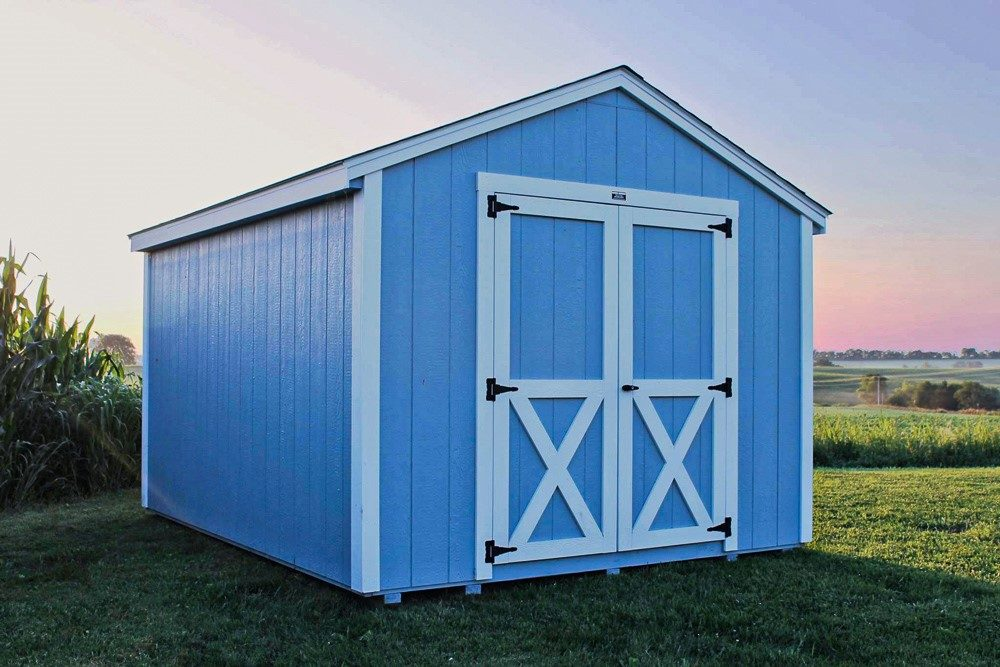 will a shed increase property value if its blue