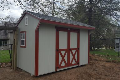 Red yard shed